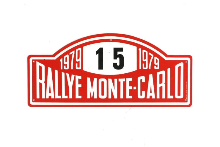 Monte Carlo Rally Plate, 1979