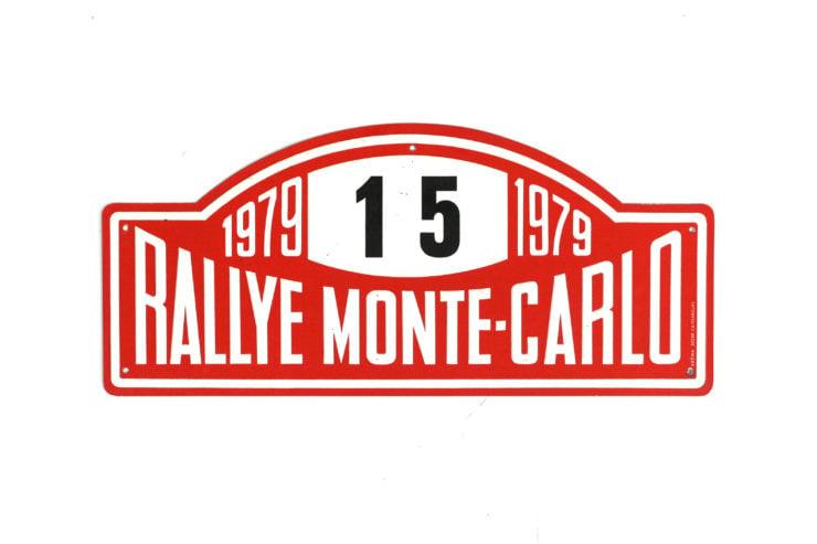 Monte Carlo Rally Plate, 1979