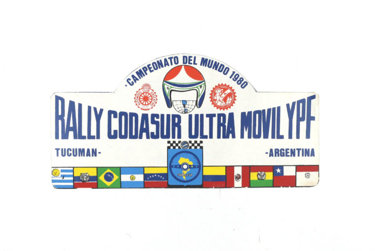 Rally Codasur Ultra Movil YPF Rally Plate, 1980