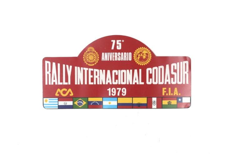 Rally International Codasur' Rally Plate, 1979