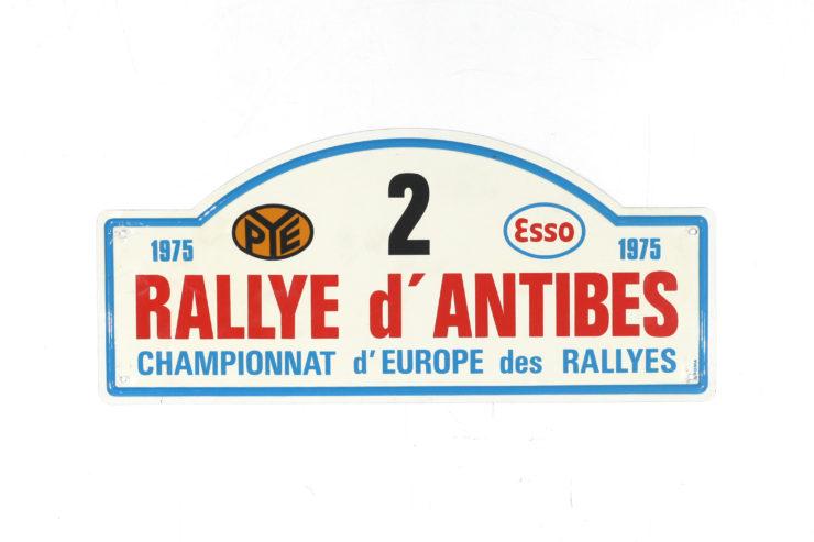 Rallye D' Antibes Rally Plate, 1975