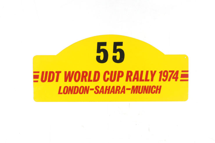 UDT World Cup Rally Plate, 1974