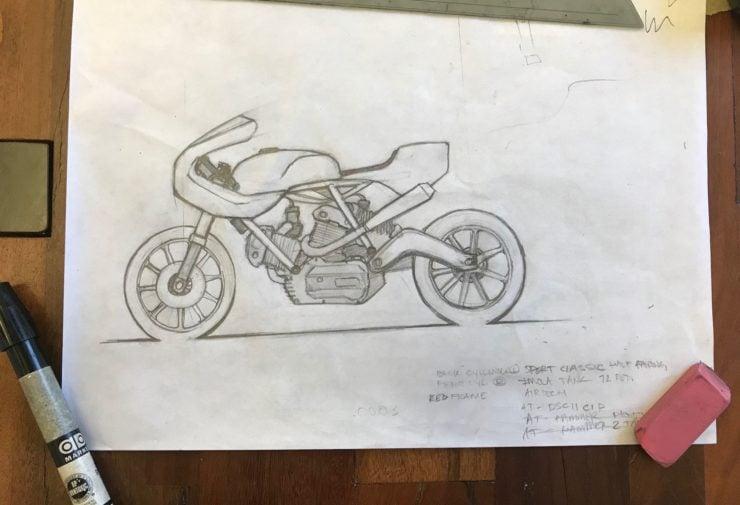Walt Siegl Motorcycles Drawing 2