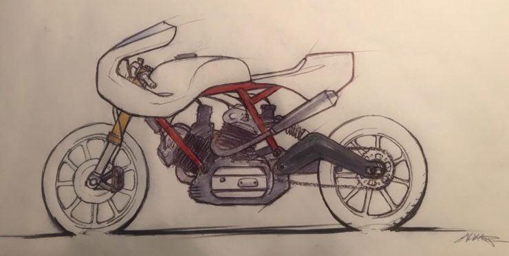 Walt Siegl Motorcycles Drawing 3
