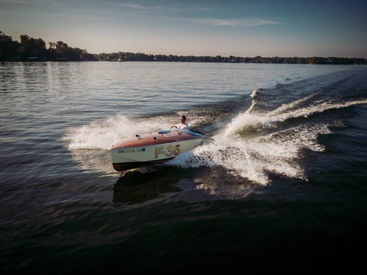 Wooden Mahogany Runabout Boat