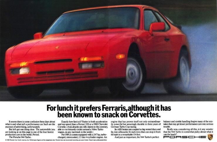 Porsche 944 advertisement