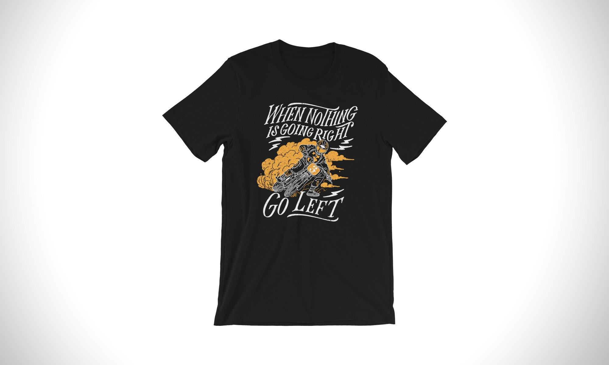 Go Left Tee - A Flat Tracker T-Shirt From Australia