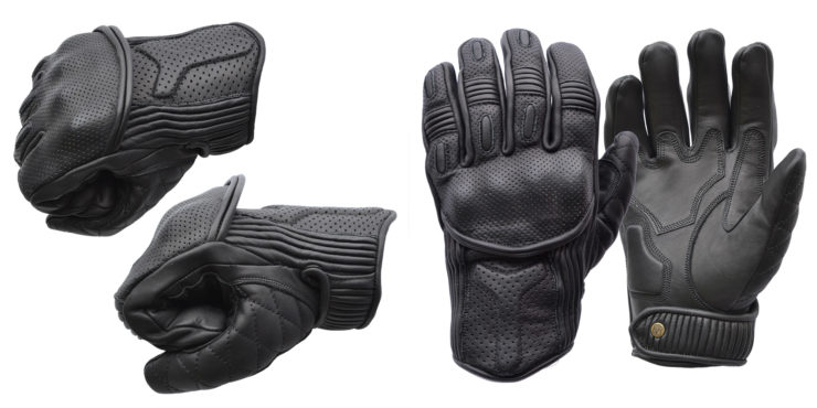 Goldtop Predator Motorcycle Gloves Black