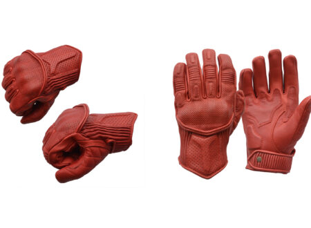 Goldtop Predator Motorcycle Gloves Red