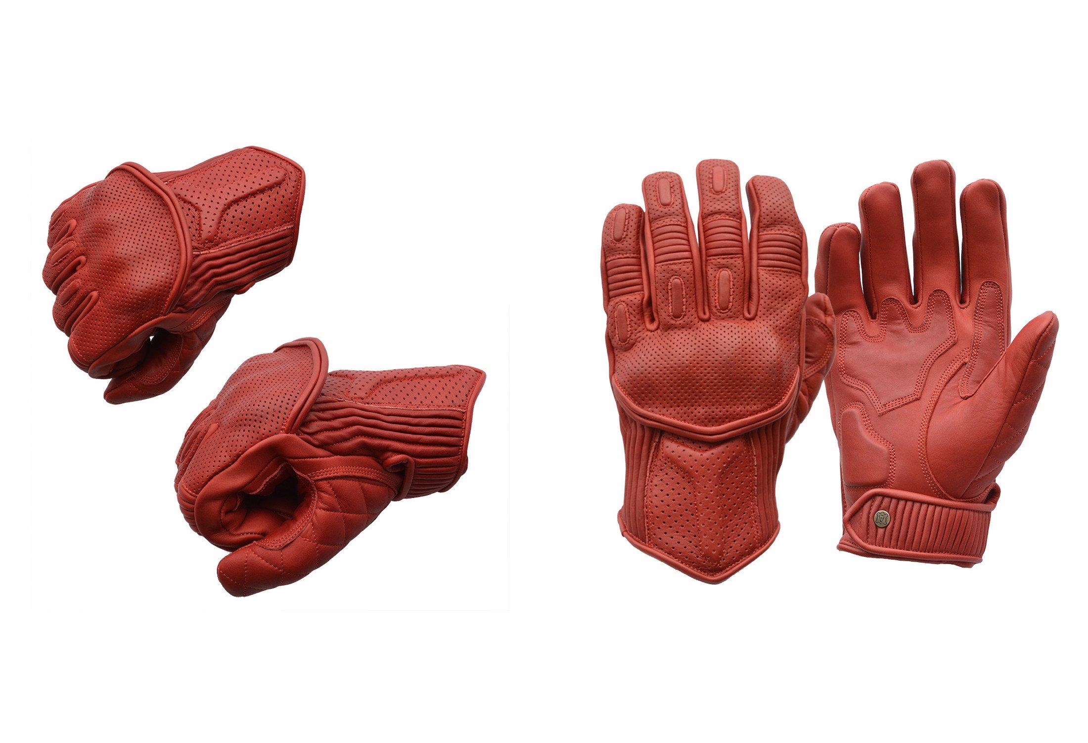 Goldtop Predator Motorcycle Gloves Red