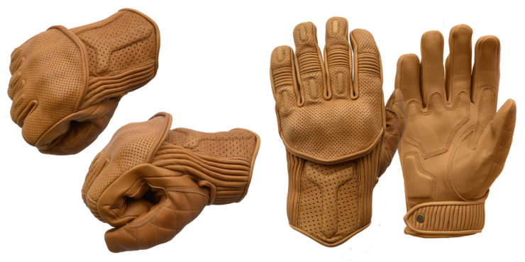 Goldtop Predator Motorcycle Gloves Tan