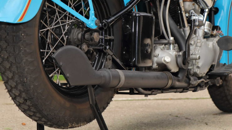 Harley-Davidson EL Knucklehead Fish Tail Exhaust