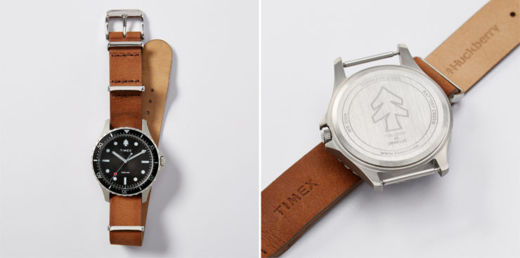 Huckberry X Timex Diver Watch Leather Strap