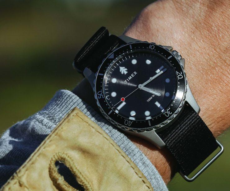 Huckberry X Timex Diver Watch Wrist