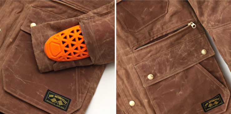 Kingsland Motorcycle Parka by Jane Motorcycles Tan Details