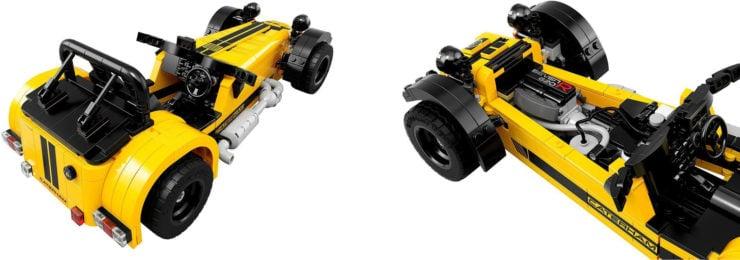 Lego Caterham Seven 620R Interior and Back