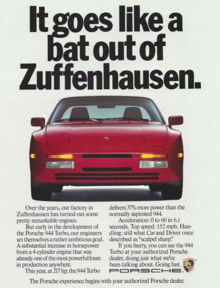 Porsche 944 Brochure