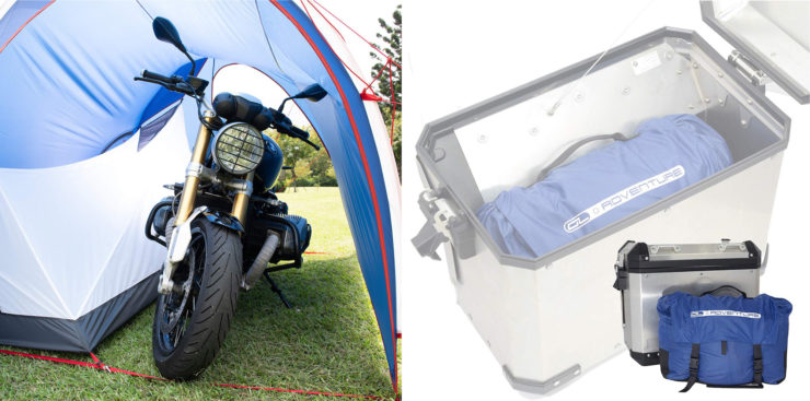 The DL Adventure Dromedary Patented Ultra Lightweight Motorcycle Tent Parking