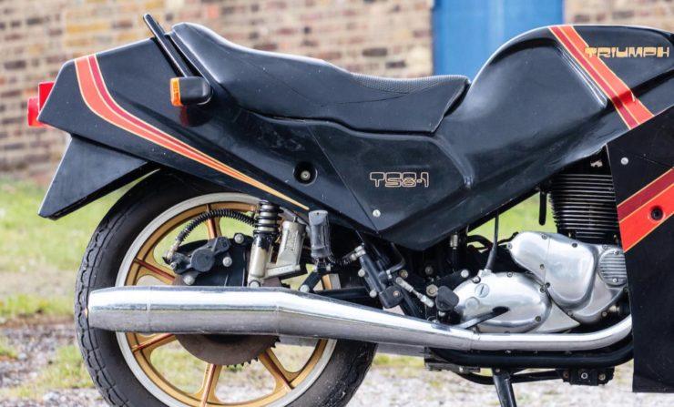 Triumph TS8-1 Prototype Exhaust