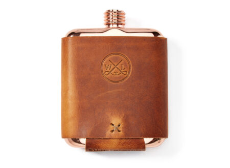 Whiskey Leatherworks The Clark Fork Copper Flask
