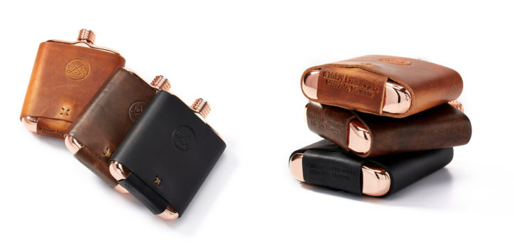 Whiskey Leatherworks The Clark Fork Copper Flask Colors