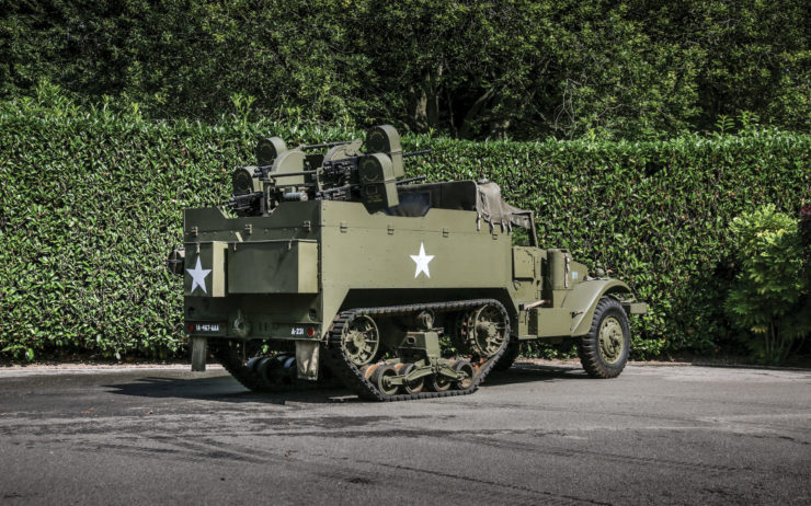 100% Road Legal + Ideal As A Post-Apocalyptic Daily Driver – WW2-Era White M16 MGMC Half-Track