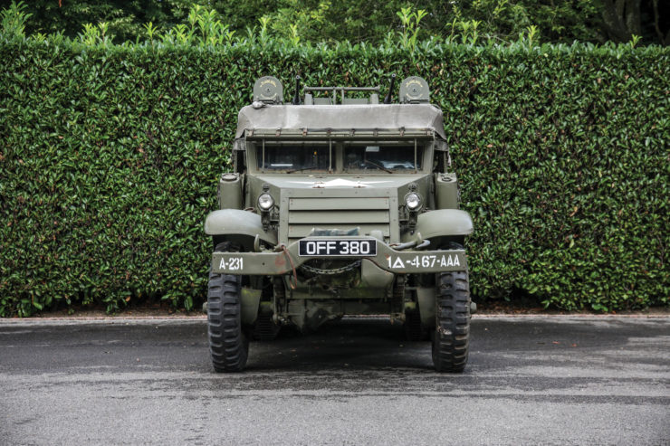 White M16 MGMC Half-Track Front