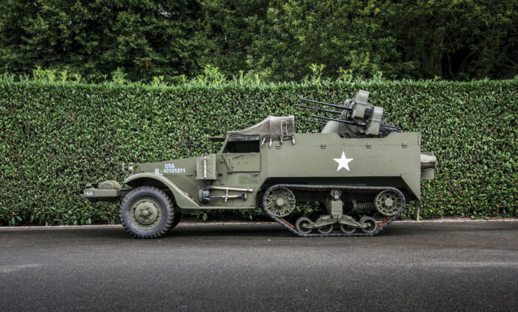 White M16 MGMC Half-Track Side