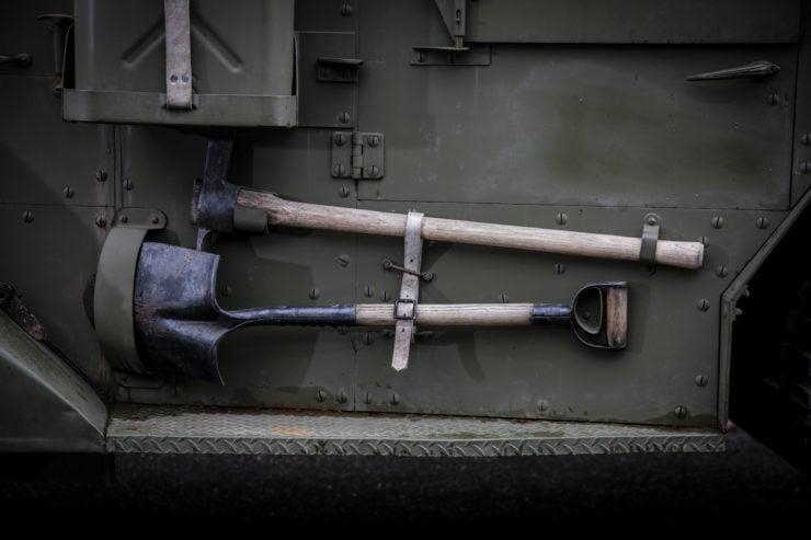 White M16 MGMC Half-Track Tools