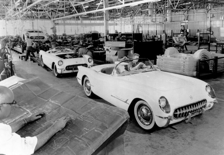 1953 Corvette production line