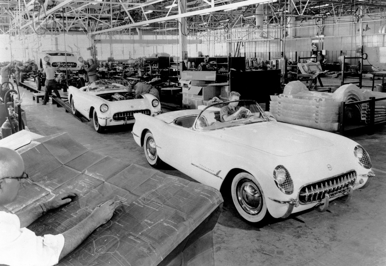 1953 Corvette production line