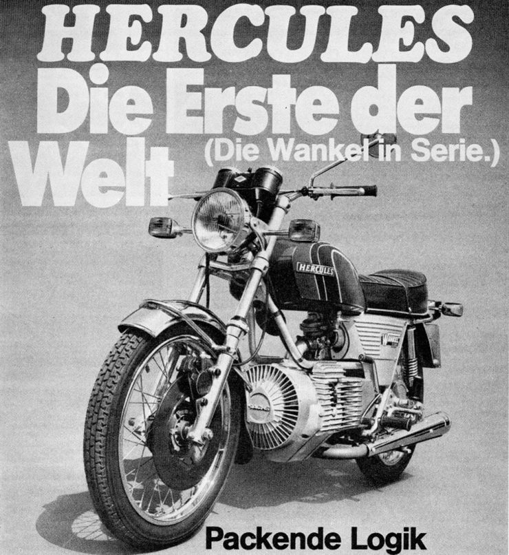 Hercules wankel engine W2000 motorcycle advertisement