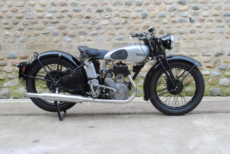 Norton WD16H military motorcycle rebuilt civilian
