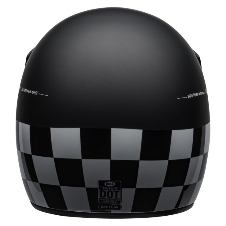 Bell Moto-3 Fasthouse Checkers Helmet Back