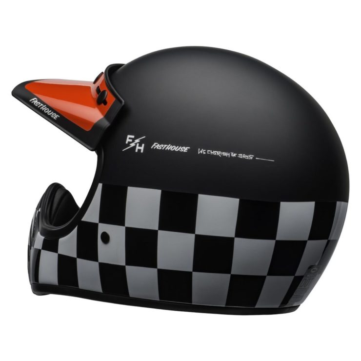 Bell Moto-3 Fasthouse Checkers Helmet Rear