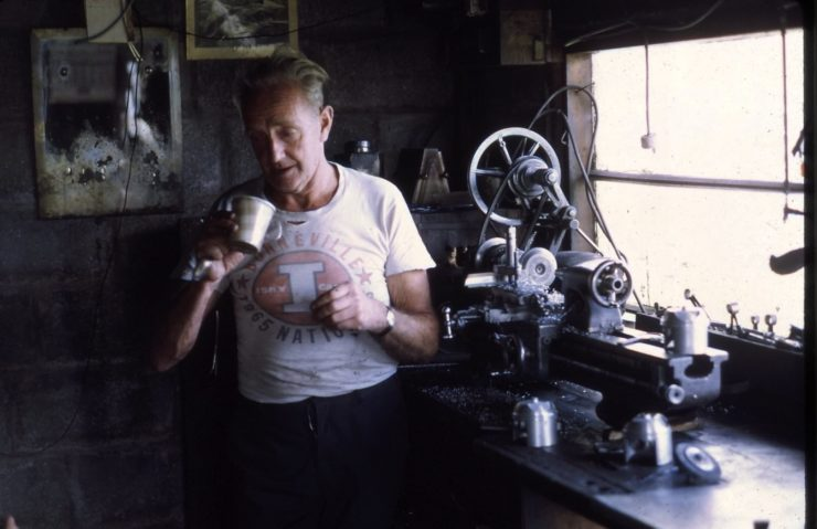 Burt Munro In His Workshop