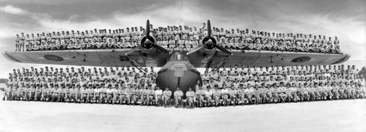 Consolidated PBY Catalina Crew On Wings