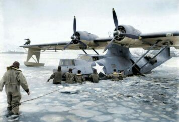 Consolidated PBY Catalina Stuck In Ice