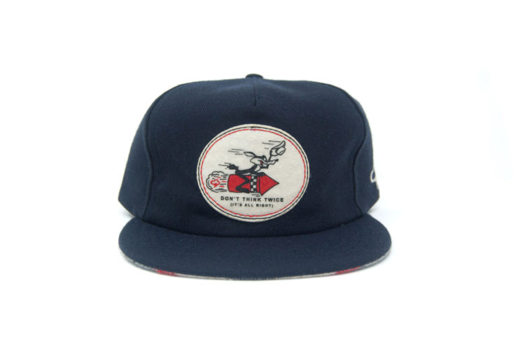 Don't Think Twice Wool Strapback Cap by The Ampal Creative Front