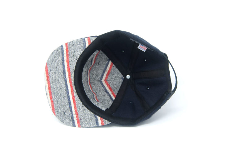 Don't Think Twice Wool Strapback Cap by The Ampal Creative Underside