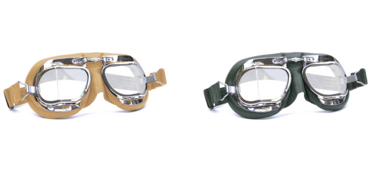 Halcyon Mark 49 Motorcycle Goggles Black + Green