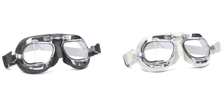 Halcyon Mark 49 Motorcycle Goggles White + Black