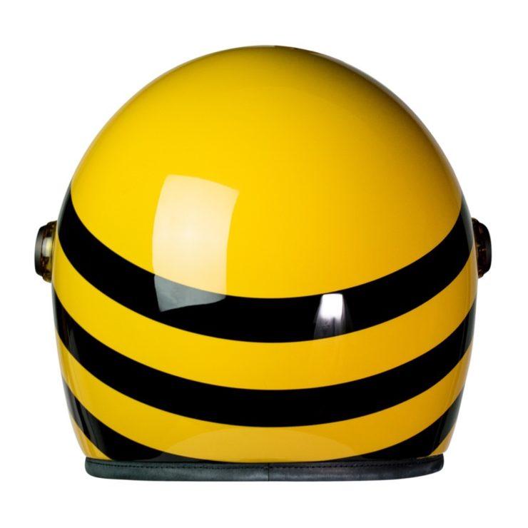 Heroine Racer Bumblebee Motorcycle Helmet Back