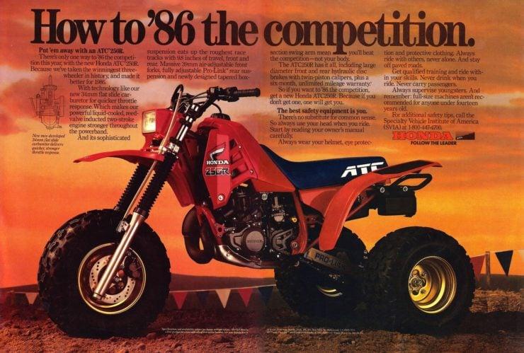 Honda ATC 250R Ad
