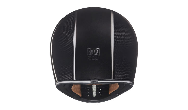 Nexx XG200 Carbon Fibre Motorcycle Helmet Back