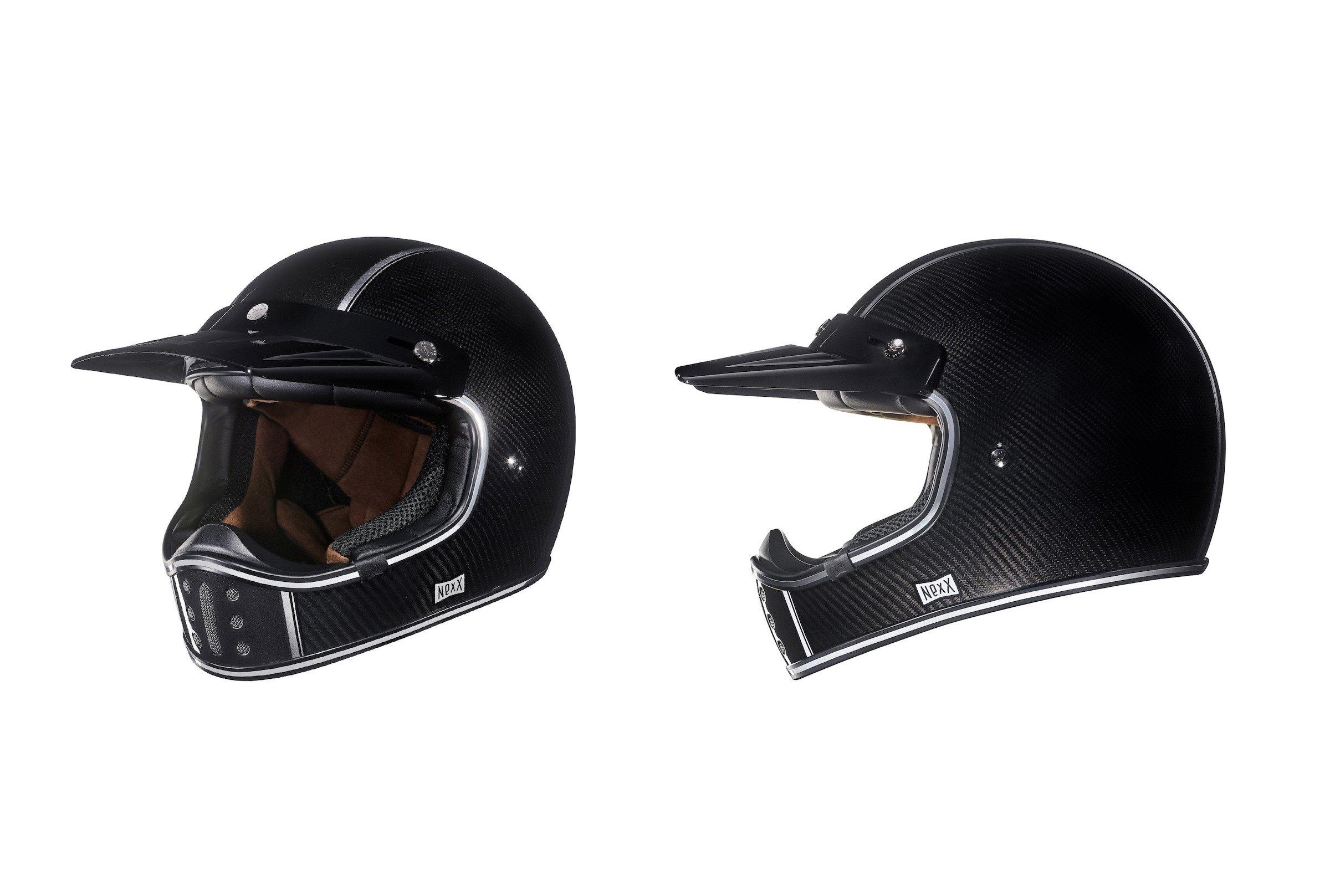 Nexx XG200 Carbon Fibre Motorcycle Helmet Scrambler