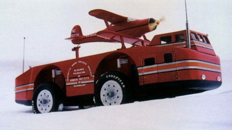 The Snow Cruiser With Plane