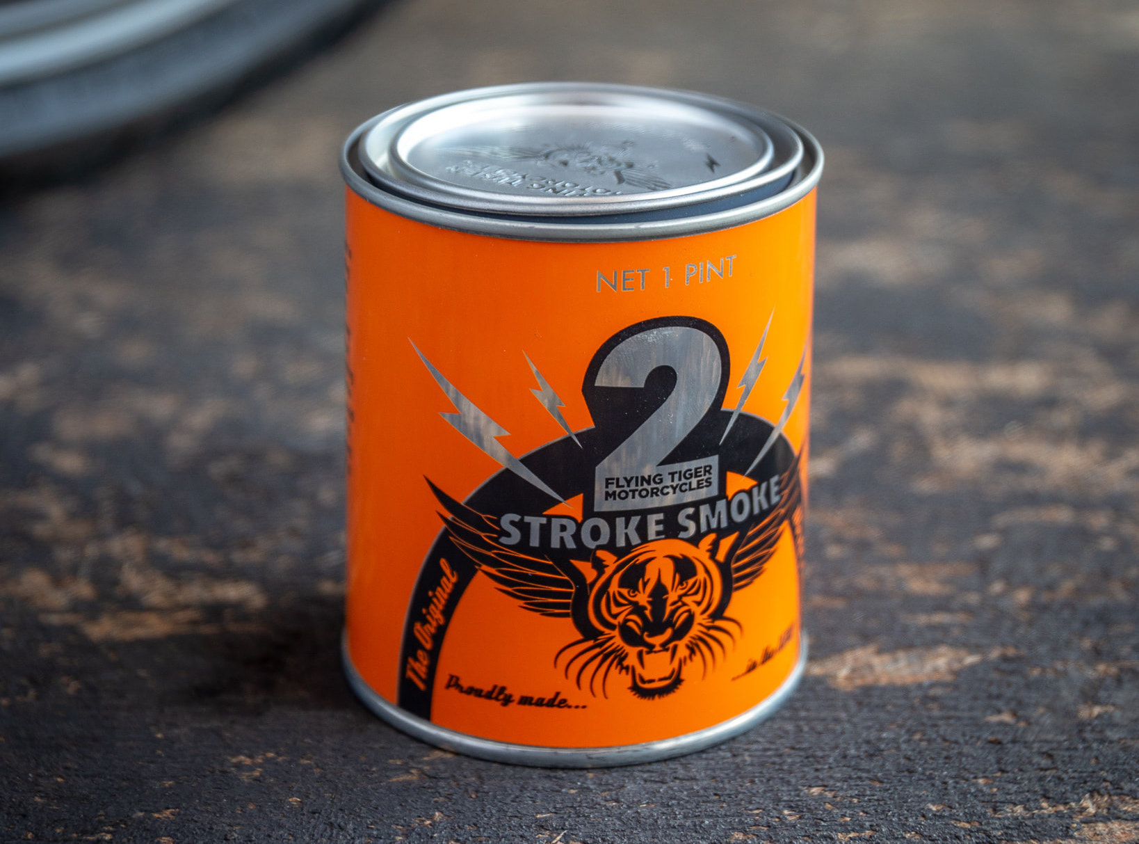 2Stroke Smoke Scented Candle By Flying Tiger Moto 1