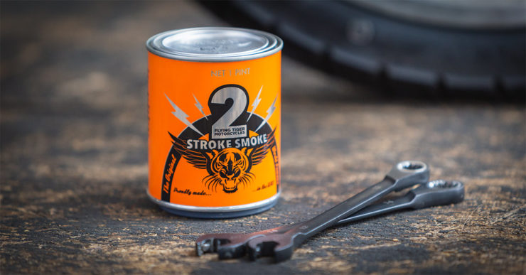 2Stroke Smoke Scented Candle By Flying Tiger Moto 2