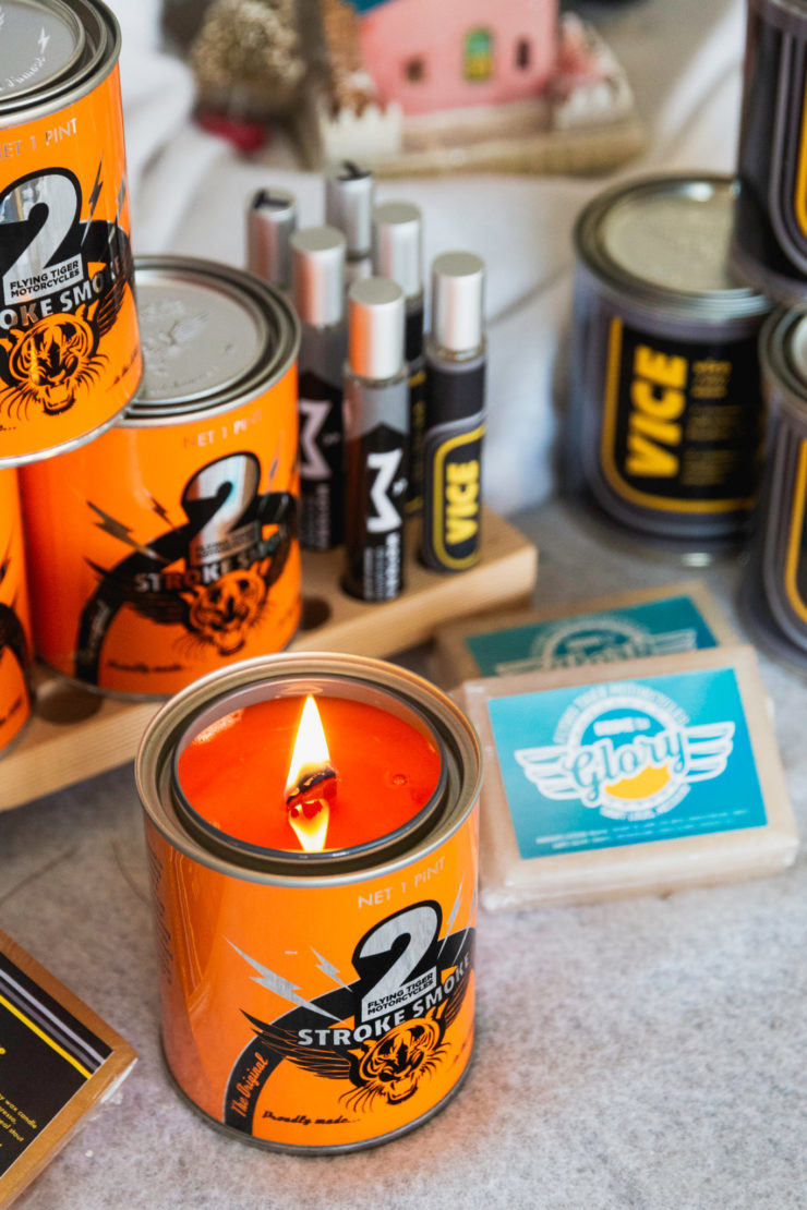 2Stroke Smoke Scented Candle By Flying Tiger Moto 3